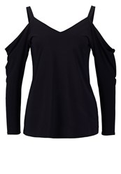 Dorothy Perkins Long Sleeved Top Navy Dark Blue