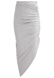 Noisy May Nmola Maxi Skirt Light Grey Melange Mottled Light Grey