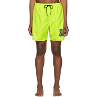 Saturdays Surf Nyc Yellow Timothy Accordion Logo Swim Shorts