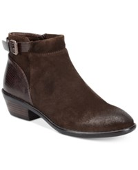 Sofft Vasanti Suede Booties Women's Shoes Coffee