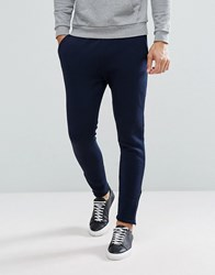 Selected Homme Slim Jogger With Ankle Zip Hem Navy
