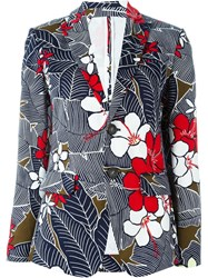 Dsquared2 Flower Print Blazer Multicolour