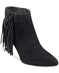 Marc Fisher Tune Fringe Booties Women's Shoes Black
