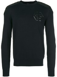Philipp Plein Chest Logo Jumper Black