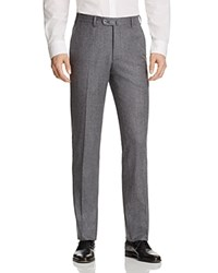 Valentini S120s Solid Flannel Regular Fit Trousers Light Grey