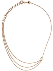 Kismet By Milka 14Kt Rose Gold Three Chains Diamond Anklet