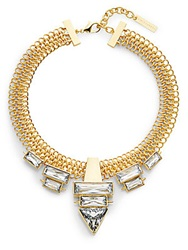 Vince Camuto Glam Punk Chain And Baguette Necklace Gold