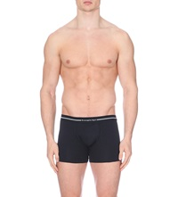 Zegna Branded Stretch Cotton Trunks Pack Of Two Black