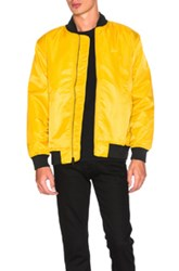 Stussy Flight Satin Bomber In Yellow