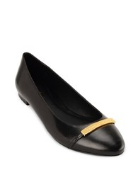 Lauren Ralph Lauren Farrel Leather Flats Black