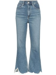 3X1 Empire Cropped Jeans Blue