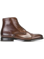 W.Gibbs Classic Lace Up Boots Brown