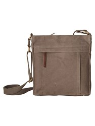 White Stuff Adam Canvas Crossbody Grey