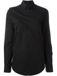 Chalayan Triangle Overlay Shirt Black