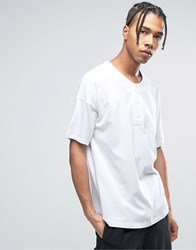 Asos Oversized T Shirt With Baseball Styling In White White