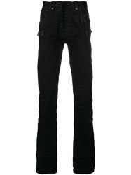 Unravel Project Skinny Buttoned Jeans Black
