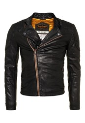 Superdry Endurance Indy Leather Jacket Black