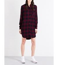 Rails Bianca Flannel Shirt Dress Rosewood Navy Check