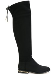 Michael Michael Kors Jamie Boots Leather Polyurethane Rubber Black
