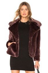 1.State Faux Mink Jacket Brown