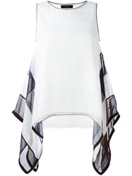 Diesel Layered Trapeze Hem Top White