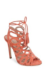 Charles By Charles David Women's Priscilla Cage Sandal Salmon Suede