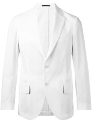 Massimo Piombo Mp Unconstructed Single Breasted Blazer White