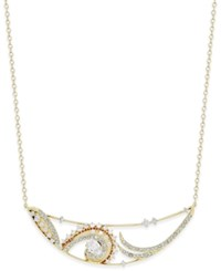 Eliot Danori Gold Tone Paisley Cutout Collar Necklace