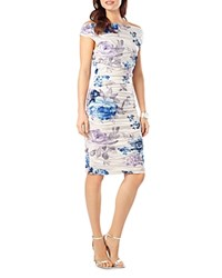 Phase Eight Cindy Crush Rose Print Dress White Blue