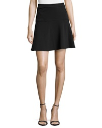 Laundry By Shelli Segal Ponte Flounce Skirt Black