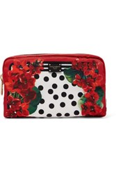 Dolce And Gabbana Printed Shell Cosmetics Case Red