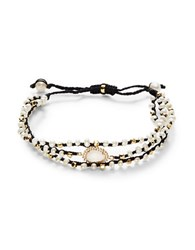 Tai Three Strand Mother Of Pearl Bracelet Black