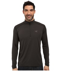 Arc'teryx Ether Zip Neck L S Magnet Men's Clothing Gray