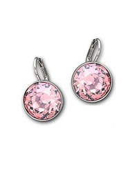 Swarovski Bella Rose Crystal Mini Drop Earrings Pink