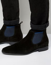 Dune Martime Suede Chelsea Boots Black