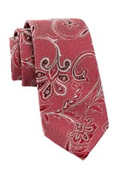 Alara Flor Exploded Silk Paisley Tie Red