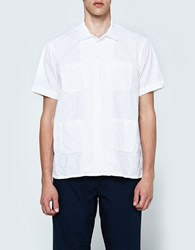 Engineered Garments Camp Shirt With Embroidery White