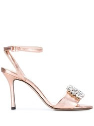 Marc Ellis Embellished Sandals Metallic