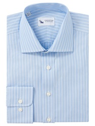 Chester By Chester Barrie Stripe Tailored Shirt Blue