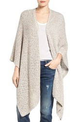 Nic Zoe Women's Luna Cotton Blend Knit Wrap Cape