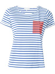 Chinti And Parker Striped T Shirt Blue