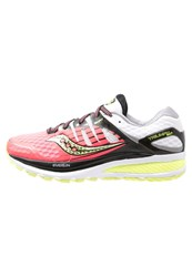 Saucony Triumph Iso 2 Cushioned Running Shoes Coral Silver