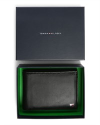 Tommy Hilfiger Black Eton Format Italian Leather Wallet