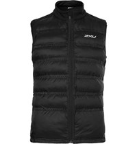 2Xu Momentum Jersey Panelled Perforated Quilted Shell Gilet Black