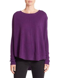 Lord And Taylor Crewneck Cashmere Sweater Mulberry Heather