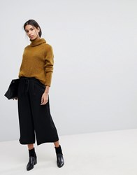 Selected Femme Cropped Trousers Black