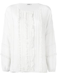 P.A.R.O.S.H. Lace Placket Blouse White