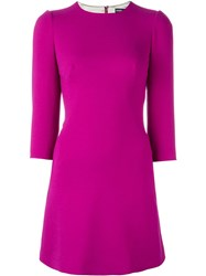 Dolce And Gabbana A Line Mini Dress Pink And Purple