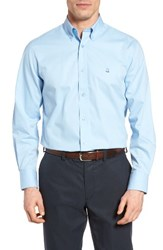 Nordstrom Men's Big And Tall Men's Shop Smartcare Tm Traditional Fit Twill Boat Shirt Blue Powder