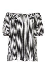 Mds Stripes Knit Abby Top Stripe